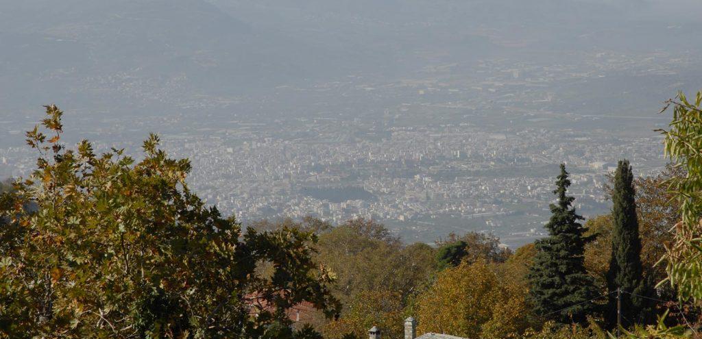 Pelion Resort view overlooking Volos