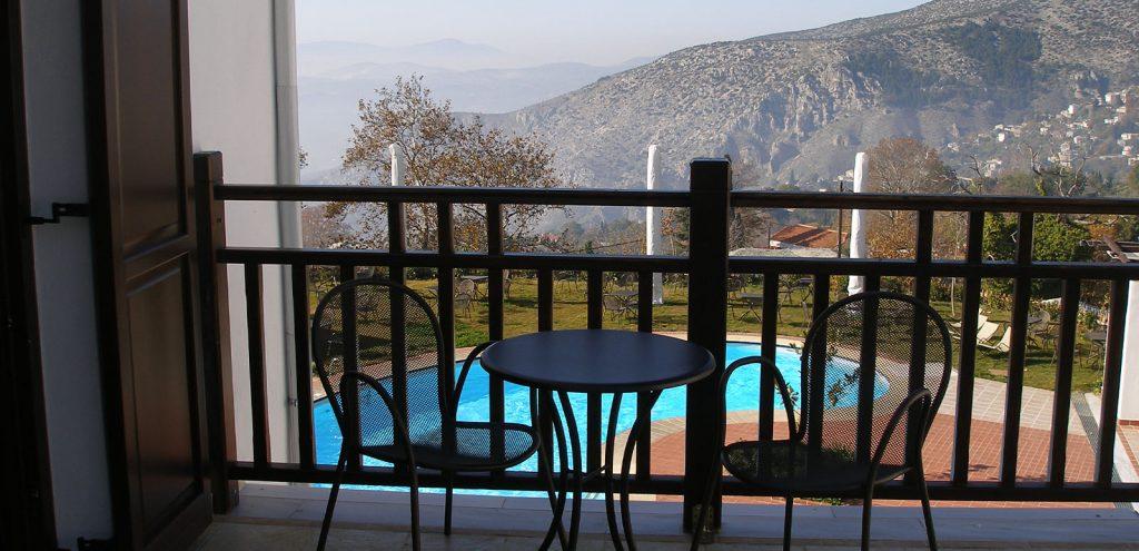 Pelion Resort rooms Superior Balcony Mountain view